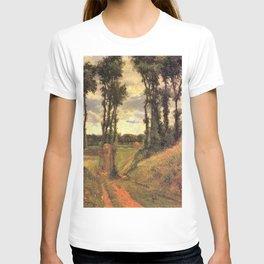 Paul Gauguin - Poplar-lined Lane, Osny (1883) T-shirt