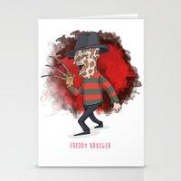 freddy krueger Stationery Cards featuring 26 - Freddy krueger by Jomp