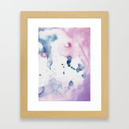 watercolor purple Framed Art Print