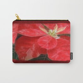 Mottled Red Poinsettia 1 Ephemeral Blank P5F0 Carry-All Pouch