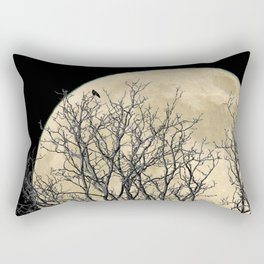 Tree with Crow Against Full Moon A181 Rectangular Pillow