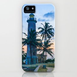 Galle fort lighthouse at sunrise, Galle, Sri Lanka iPhone Case