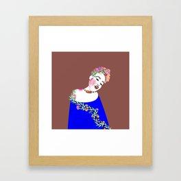 Flowered woman Framed Art Print