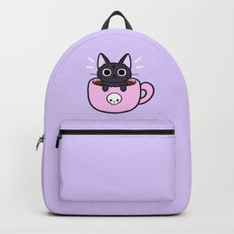 Pastel Coffee Cat Backpack