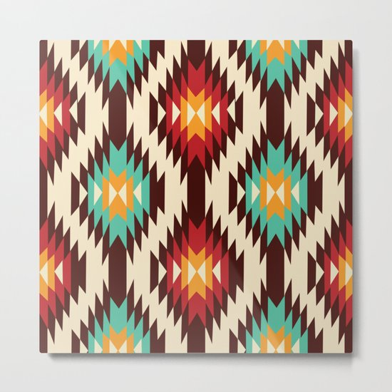 American Native Pattern No. 19 Metal Print