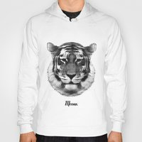 Hoodies featuring TIGER SAYS MEOW by Roscoe