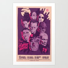CLASSIC MONSTERS Art Print