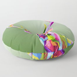 Colorful decoration of deer Floor Pillow