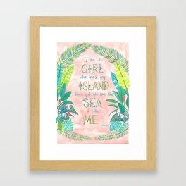 Island Girl, Ocean Girl Framed Art Print