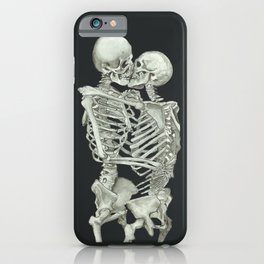 Valentine's Day Gift: Skeleton Kiss iPhone Case