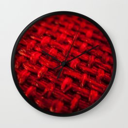 woven red fabric Wall Clock