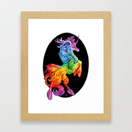 Rainbow Kirin Framed Art Print