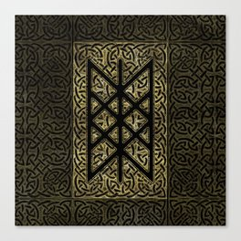 Web of Wyrd  -The Matrix of Fate Canvas Print