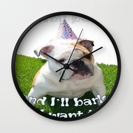 It's My Pawty  Wall Clock