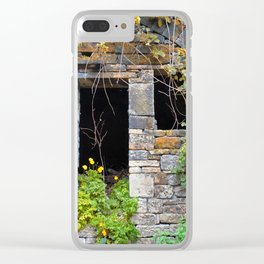 ancient house  in a wall Clear iPhone Case
