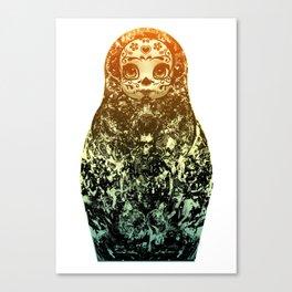 day of the dead matryoshka Canvas Print