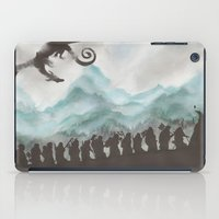 smaug iPad Cases featuring The Desolation of Smaug by JadeJonesArt