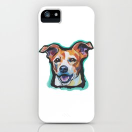Fun Jack Russell Terrier Portrait bright colorful Dog  Pop Art by LEA iPhone Case