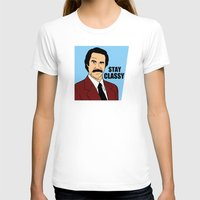 will ferrell T-shirts featuring Stay Classy - Ron Burgundy by Buby87