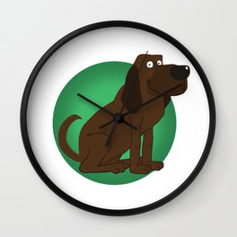 Bloodhound Illustration Wall Clock