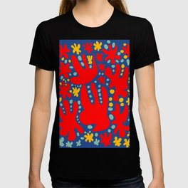 C'est la Vie Abstract Pattern French Art Red Yellow Blue T-shirt