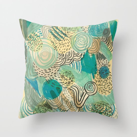 Holidays at the pool Throw Pillow