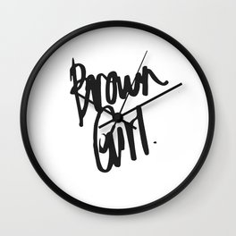 Brown Girl Hand Wall Clock