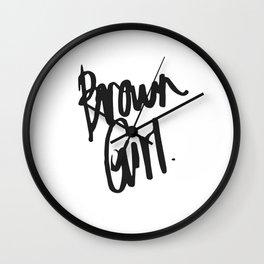 Brown Girl Hand Wall Clock