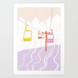 chairlift Art Print