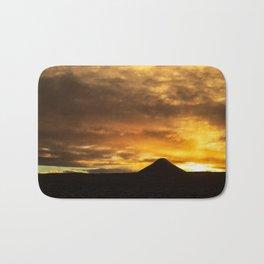 Mount Keilir on sunset in Reykjanes, Iceland Bath Mat