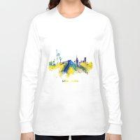 new york skyline Long Sleeve T-shirts featuring New York City Skyline  by jbjart