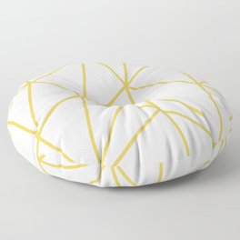 ABSTRACT DESIGN (GOLD-WHITE) Floor Pillow
