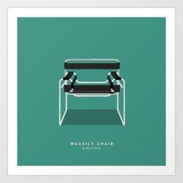 Wassily Chair - Marcel Breuer Art Print