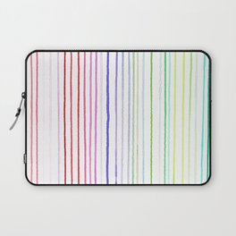 RAINBOW WATERCOLOR LINES Laptop Sleeve