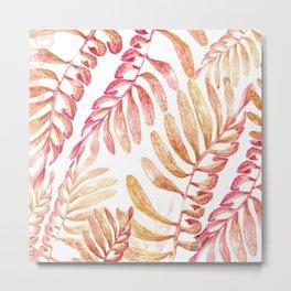 tropical pink nature Metal Print