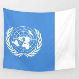 The United Nations Flag - Authentic Version Wall Tapestry