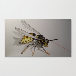 Cyber Wasp Canvas Print