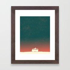Quiet Night - starry sky Framed Art Print