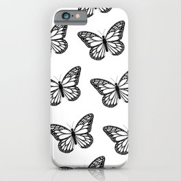 Monarch Butterfly - Black and White Color Palette iPhone Case