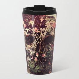 Bloom Skull Metal Travel Mug