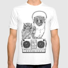 Silent Night ANALOG zine MEDIUM White Mens Fitted Tee