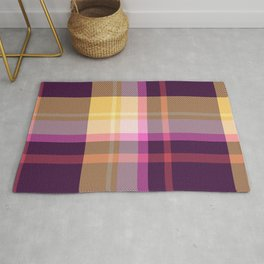 Pink Yellow Blue Tartan Plaid Rug