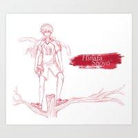 Sketchy Hinata  Art Print