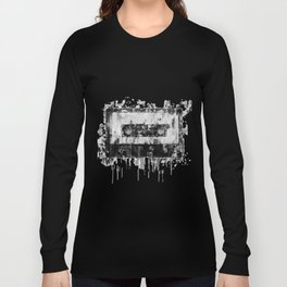 cassette / tape Illustration black and white painting Long Sleeve T-shirt
