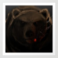 starcraft Art Prints featuring It's A-Bear Time. by Rookzer0