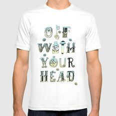 Off With Your Head White MEDIUM Mens Fitted Tee