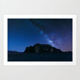 Milky Way Over Wadi Rum Art Print