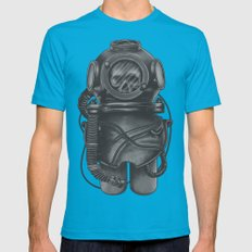 The Dead Diver Teal Mens Fitted Tee MEDIUM