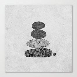 Zen Stones Marble Canvas Print