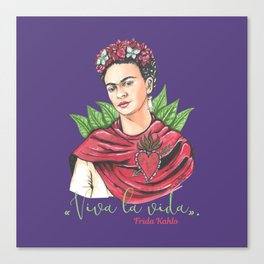 Frida Viva la vida Canvas Print